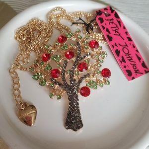 NWT Betsey Johnson Tree Necklace